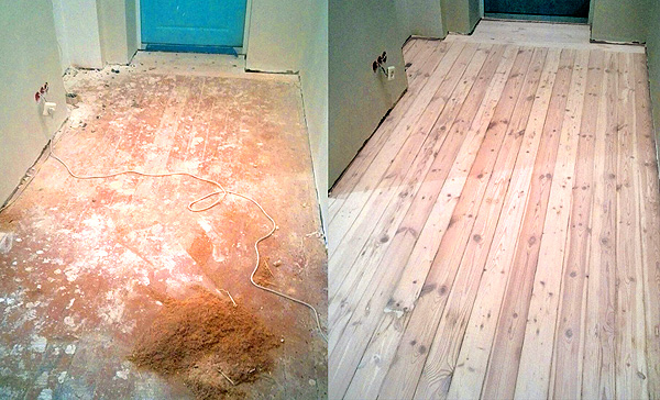 как обновить старые деревянные полы