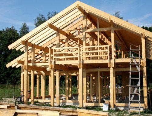 Каркасные деревянные постройки