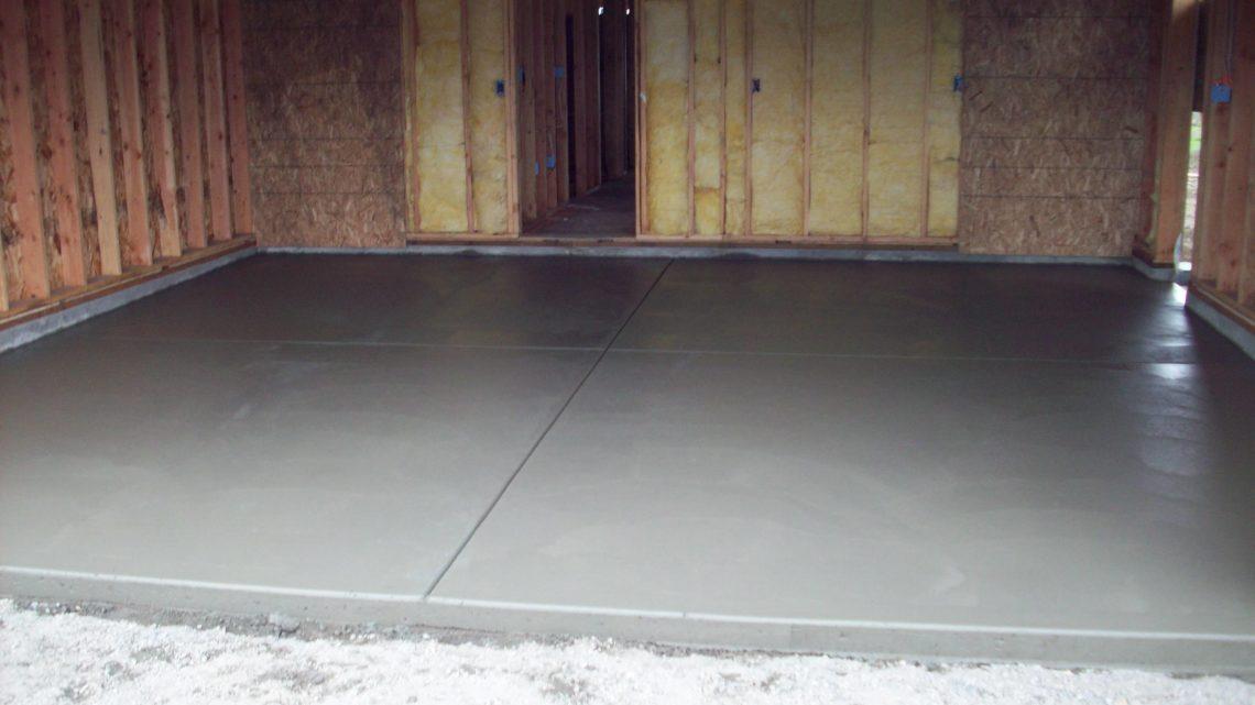 Как сделать прочный бетонный пол