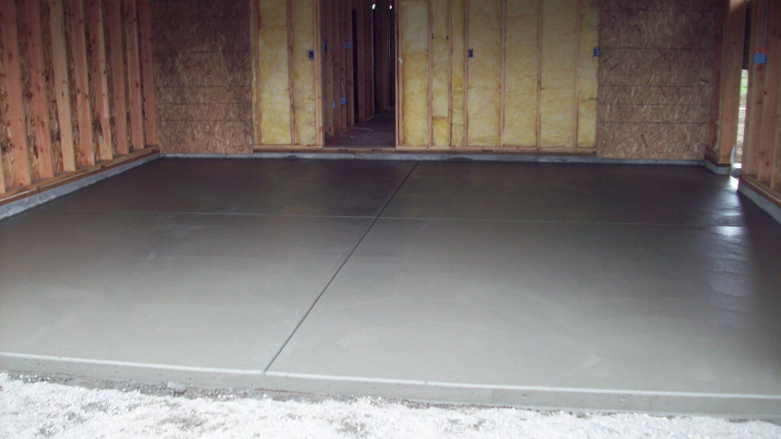 бетон пылится