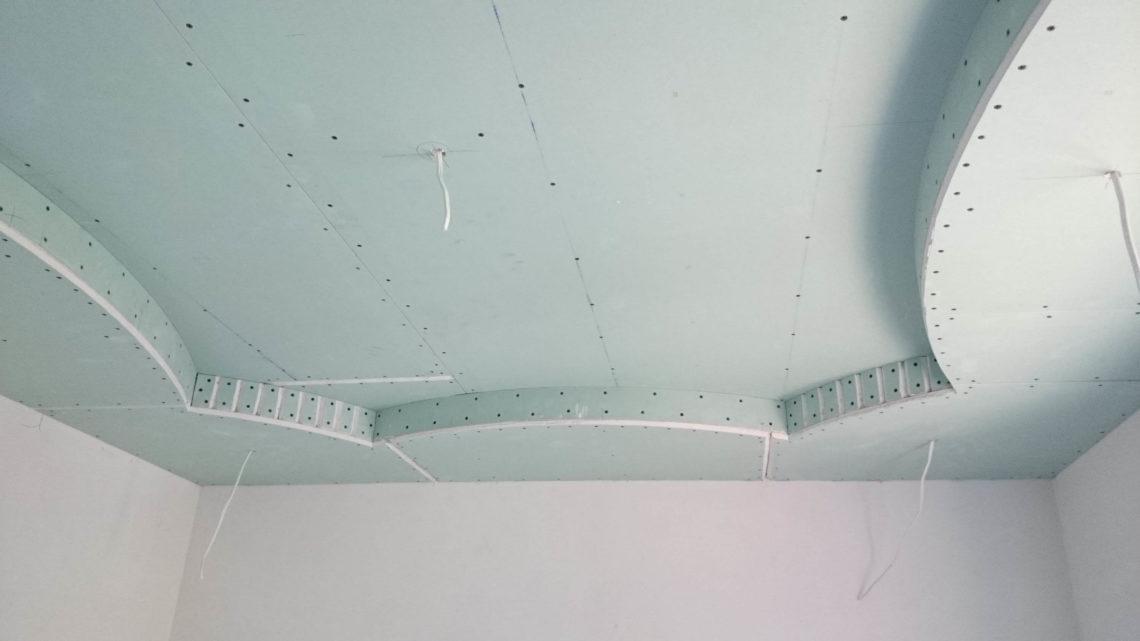 Как сделать фигурные потолки из гипсокартона