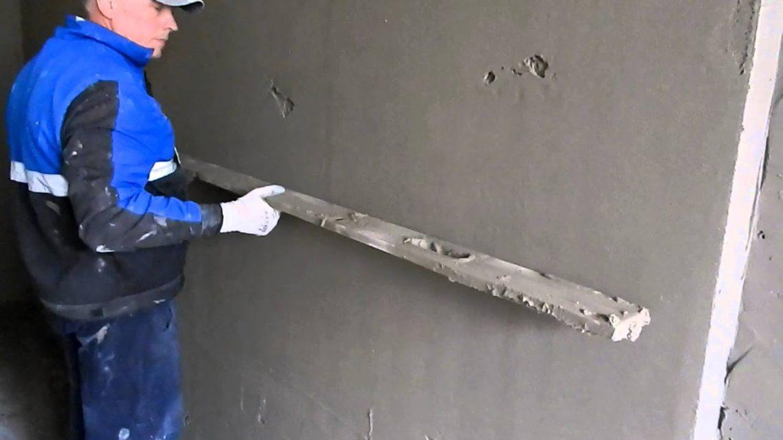 Выравнивание стен без маяков правилом своими руками